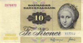Dänemark / Denmark P.48a 10 Kronen 1972 (1)