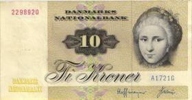 Dänemark / Denmark P.48a 10 Kronen 1972 (2)