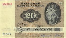 Dänemark / Denmark P.49a 20 Kronen 1979 (2)