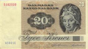 Dänemark / Denmark P.49b 20 Kronen 1980 (3+)