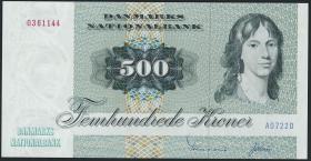 Dänemark / Denmark P.52a 500 Kronen 1972 (1)