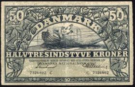 Dänemark / Denmark P.32d 50 Kroner 1942 (2)