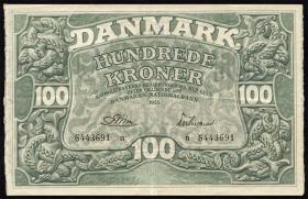 Dänemark / Denmark P.39l 100 Kronen 1955 (2)