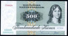 Dänemark / Denmark P.52b 500 Kronen 1976 (1)