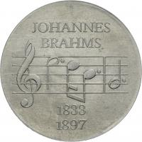DDR 5 Mark 1972  Brahms Alu-Abschlag
