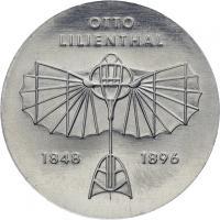 DDR 5 Mark 1973 Lilienthal Alu-Abschlag