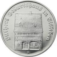 DDR 5 Mark 1983 Luthers Geburtshaus Eisleben
