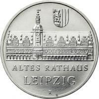 DDR 5 Mark 1984 Leipzig - Altes Rathaus
