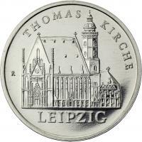 DDR 5 Mark 1984 Leipzig - Thomaskirche