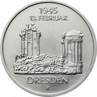 DDR 5 Mark 1985 Frauenkirche Dresden