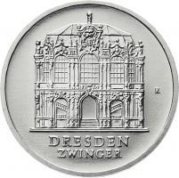 DDR 5 Mark 1985 Zwinger Dresden