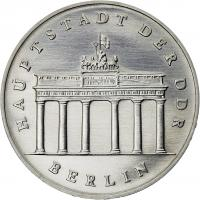 DDR 5 Mark 1989 Brandenburger Tor