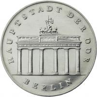 DDR 5 Mark 1988 Brandenburger Tor