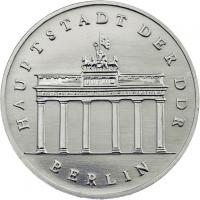 DDR 5 Mark 1990 Brandenburger Tor