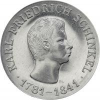 DDR 10 Mark 1966 Schinkel Alu-Abschlag