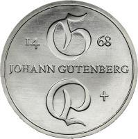 DDR 10 Mark 1968 Gutenberg