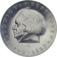 DDR 10 Mark 1970  Beethoven Alu-Abschlag
