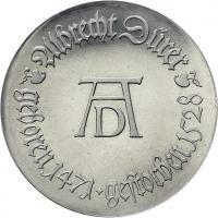 DDR 10 Mark 1968 Gutenberg  Alu-Abschlag