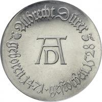 DDR 10 Mark 1971 Dürer Alu-Abschlag