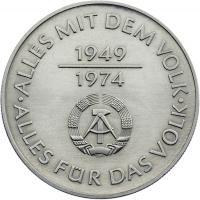DDR 10 Mark 1974 25 Jahre DDR