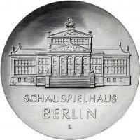 DDR 10 Mark 1987 Schauspielhaus