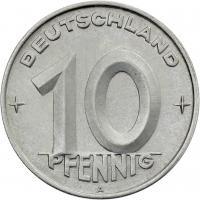 DDR 10 Pfennig (Alu) RS Zahnrad f.stgl