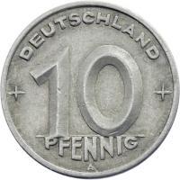 DDR 10 Pfennig (Alu) RS Zahnrad ss