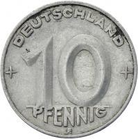 DDR 10 Pfennig (Alu) RS Hammer&Zirkel ss