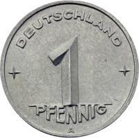 DDR 1 Pfennig (Alu) RS Zahnrad f.stgl