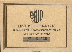DDR 1 Reichsmark Spende Wiederaufbau Stadt Leipzig (1)