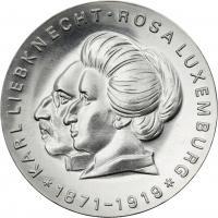 DDR 20 Mark 1971 Liebknecht/Luxemburg