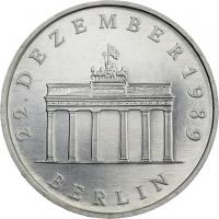 DDR 20 Mark 1990 Brandenburger Tor Silber
