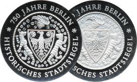 DDR 20 Mark 1987 20 Mark Stadtsiegel PP-Paar (2 Varianten)