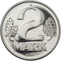 DDR 2 Mark (Alu) Exportqualität (stgl)