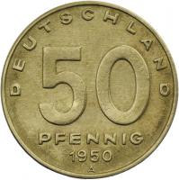 DDR 50 Pfennig 1950 A (Messing)