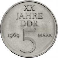 1969  XX Jahre DDR - Nickelprobe