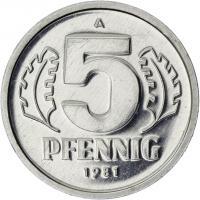 DDR 5 Pfennig (Alu) Exportqualität (stgl)