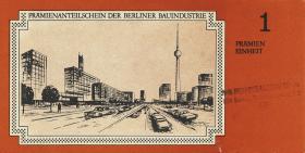 DDR Prämienscheine der Berliner Bauindustrie (1-)