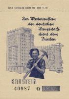 DDR Baustein 0,50 DM Wiederaufbau Berlin (1)