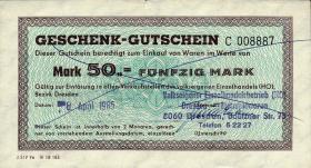 DDR HO Gutschein 50 Mark (1-)