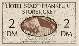 DDR Hotel Stadt Frankfurt 2 DM Storeticket (1)