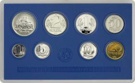 DDR Kursmünzensatz 1983 stgl (blau)