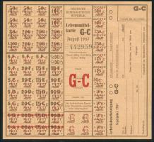 DDR Lebensmittelkarte August 1957 (1)