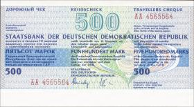 DDR Reisescheck der Staatsbank 500 Mark (1) blanko