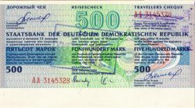 DDR Reisescheck der Staatsbank 500 Mark (1-)