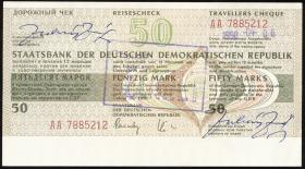 DDR Reisescheck der Staatsbank 50 Mark (2)