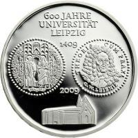 Deutschland 10 Euro 2009 Universität Leipzig PP