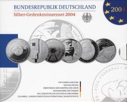 Deutschland Silber-Gedenkmünzenset 2004 PP