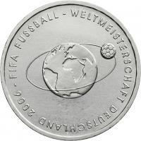 Deutschland 10 Euro 2004 Fußball-WM (Weltkugel) stg