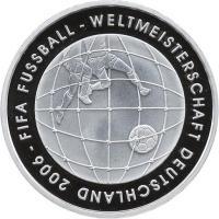 Deutschland 10 Euro 2005 Fußball-WM (Tornetz) PP
